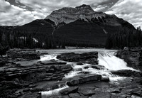 Athabasca Falls before Mount Kerkeslin